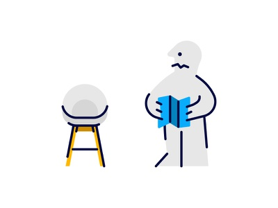 IKEA Trip bar stool interior design chair directions brooklyn ny illustration confused character furniture building trip ikea
