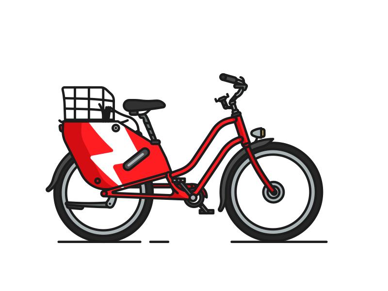 Scoot eBike city urban barcelona brooklyn ny illustration cycle transportation cruiser pedal bike electric scoot