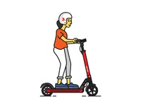 Scoot kick rider