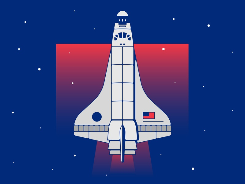 Searching for Space program travel stars gradient explore mono brooklyn ny illustration flag american searching rocket man rocket ship flying blue galaxy space shuttle shuttle nasa space