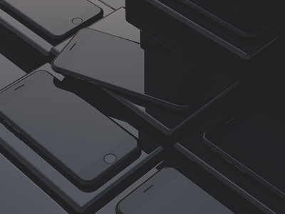 iPhone Mockups clean sharp presentation 4k glossy black freebies 3d apple iphone mockups iphone 7