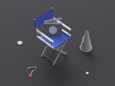 UI8 Studio clean minimal isometric ui8 studio illustration 3d