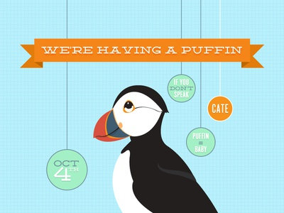 Puffin baby announcement