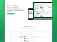 Workchat landing page
