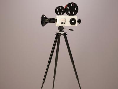 Camera with Tripod