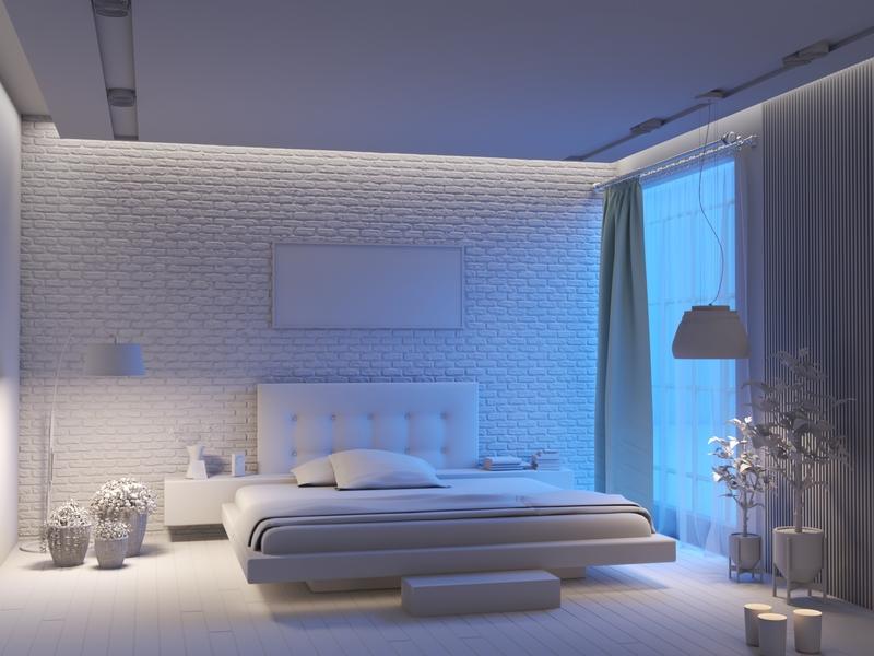 Bed Room ( clay render )