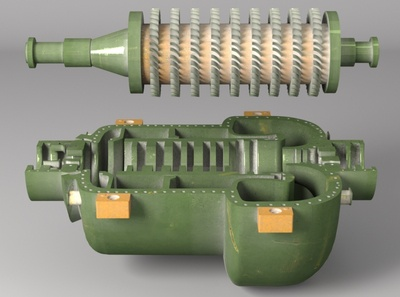 Axial Flow Compressor ( cut_section )