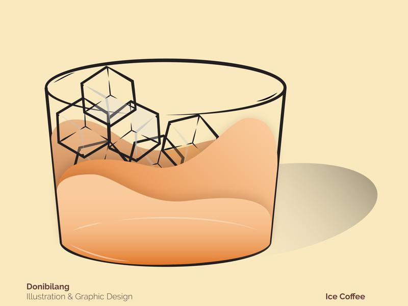 Ice Coffee branding design branding dribbble flatdesign icon logo brand identity adobe illustrator illustration ui