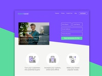 Landing page for an SEO Company