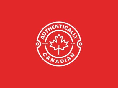 Authentically Canadian | Logo Design | 2019 typography minimal illustrator icon mark monogram graphic design logo branding vector