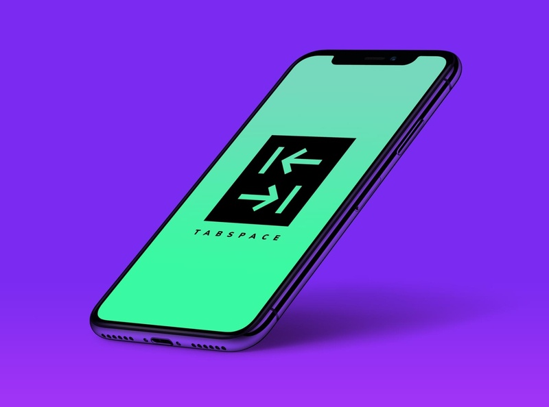 TabSpace | Mockup | 2019 app monogram vector modern logo illustration icon logo illustrator design branding
