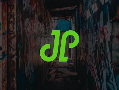 JP Lettering | Mockup simplistic vector minimal monogram modern logo illustrator icon logo design branding