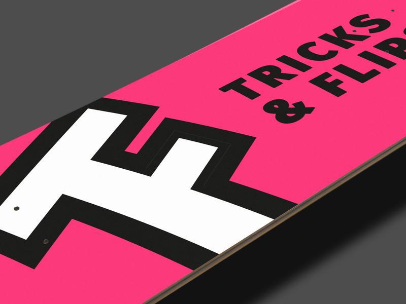 Tricks and Flips | Mockup simplistic monogram modern design minimal icon illustrator modern logo logo design branding