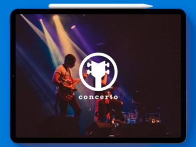 Concerto | Mockup branding vector graphics design graphic illustration illustrator simple monogram logo
