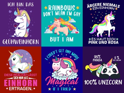 Unicorn T Shirt Design