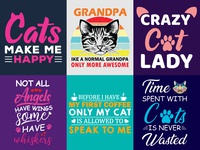 Cute Cat T Shirt Design.