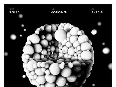 ṈƟĪṩḖ white black bubble noise 3d graphic baugasm poster cinema illustration