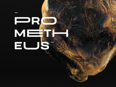 Prometheus design graphic illustration 3d black baugasm c4dart poster typogaphy prometheus cinema4d c4d stone