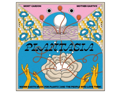 Plantasia retro good vibes electronic music planet plants mother earth mort garson moog connection flower cover art album cover album artwork album art plantasia