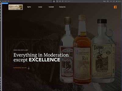 Fogs End Distillery Landing Page in Webflow ux ui web webflow