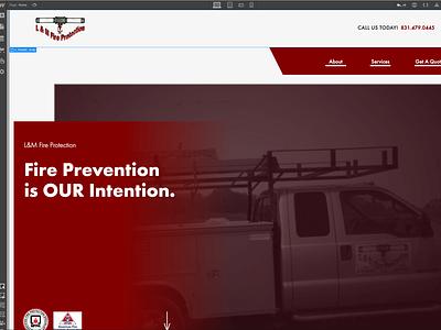 L&M Fire Protection Webflow Landing Page web ux ui webflow