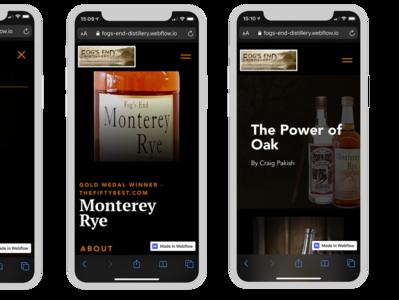 Mobile Examples of Fogs End Distillery, LLC ux web ui webflow