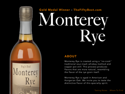 Monterey Rye Info Page Layout Idea web ux ui sketch