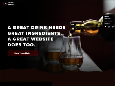 New Website Concept (with a focused Niche) artisan distillery website concept alcohol branding distillery niche design webflow