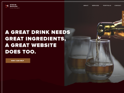 Iteration for upcoming Portfolio with focused Niche. whiskey design niche sketch website concept artisan distillery alcohol branding web ux ui webflow