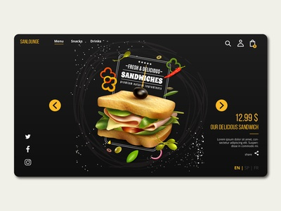Sanlounge Front Page Design