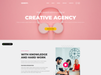 Genemy  Creative Agency Landing Page