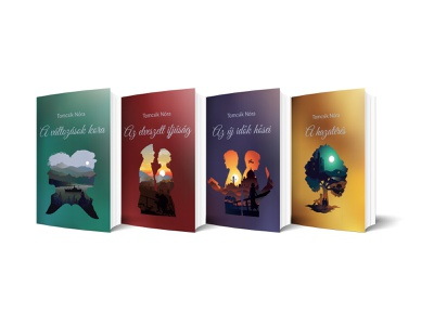 Series of book covers designe book series book cover book illustration