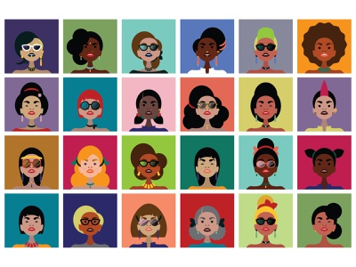 International Women's Day march feminism girl female character cartooning equal opportunities equality world work emancipation international woman women international womens day
