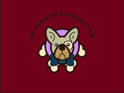 Campaign Logo for Your Pet - Dribbble Weekly Warm Up tie bone dog logo dude french bulldog logo animal dr chiropractor frenchie bulldog weekly warm-up pet dog