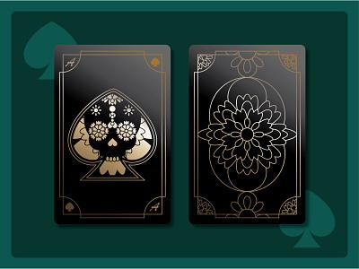 Spades Playing Card - Weekly Warm Up french spades skull card playing card dribbble weekly warm-up weeklywarmup