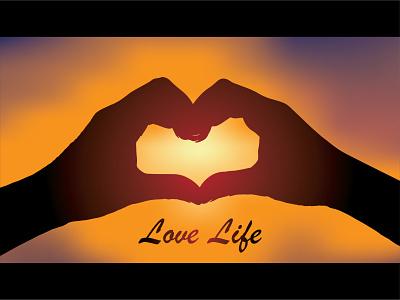 Love Life - Weekly Warm Up sky sunshine sun hands lovers life love dribbble weekly warm-up weeklywarmup