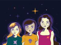 My friends cartoon characters
