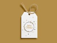 Merry Xmas Holiday Gift Tag - Dribble Weekly Warm-Up