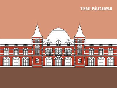 Tiszai Pályaudvar building train station train station