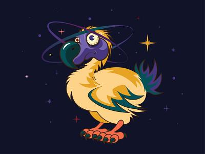 Dodo bird extinct animal illustraion characterdesign cartoon animal extinct bird dodo bird dodobird dodo mauritius character galaxy planet stars