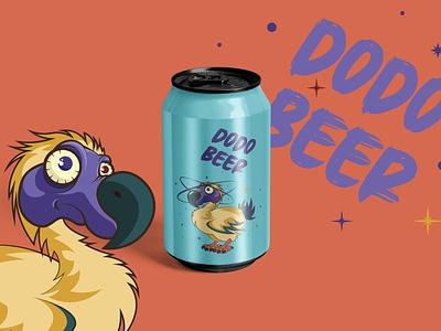 Dodo Beer - Beverage Design can beverage design beverage beer can beer mauritius bird dodo cartoon characterdesign illustration cartooning space character planet galaxy stars weeklywarmup dribbble weekly warm-up