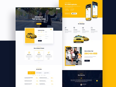 PickMe - Modern Taxi Cab Rental Service HTML Template