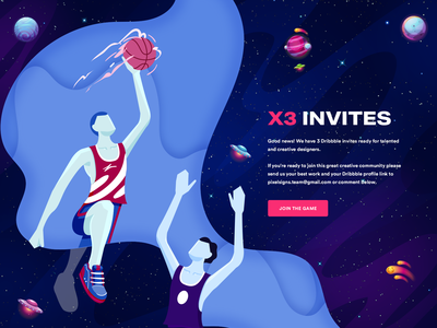 3 Dribbble invitations giveway