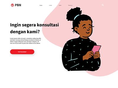 Web Landing using Open-peeps open-peeps design minimal illustration website web ui