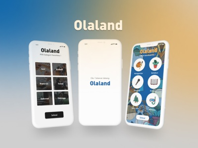 Olaland the Social Media adobexd mobile ui figma mobile app mobile ui illustration design