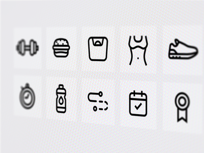 Fitness icons - WIP iconpack icons set sport fitness outline wip icons