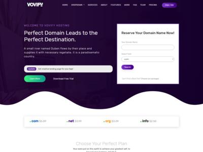 Vovify - Multipurpose landing page