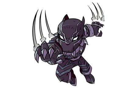 Black Panther Chibi Attack