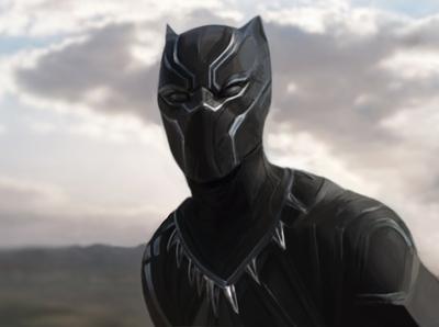 Black Panther Cinematic Illustration