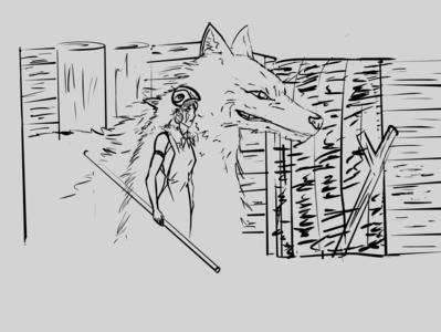 Princess Mononoke - Inktober Day 5